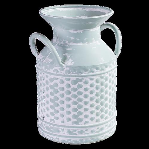 Seafoam Metal Vase