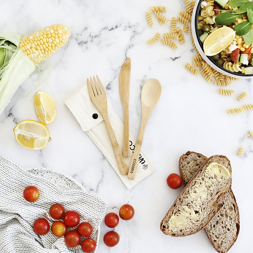 Reusable Ever Eco Bamboo Cutlery Set