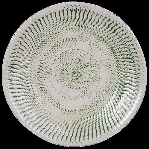 Embossed Ceramic Platter - Green