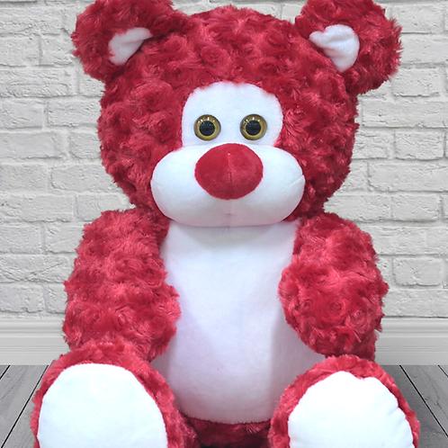 Мишка Rouz красный (для вышивки), 50 см