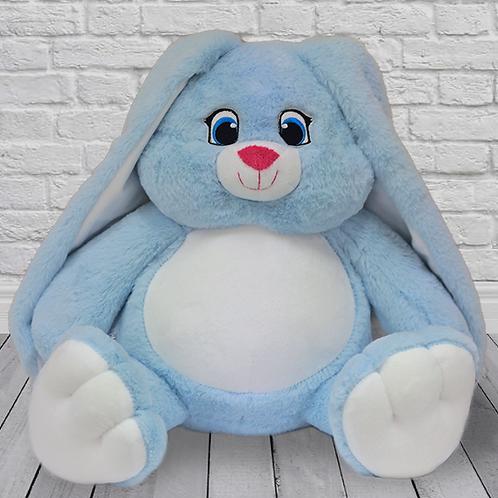 Заяц Степка голубой (для вышивки), 42 см