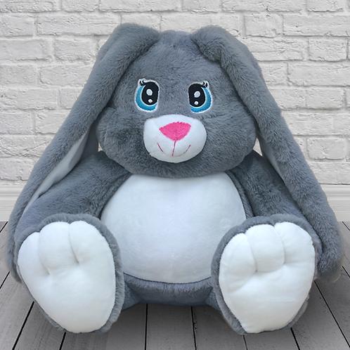 Заяц Степка серый (для вышивки), 42 см