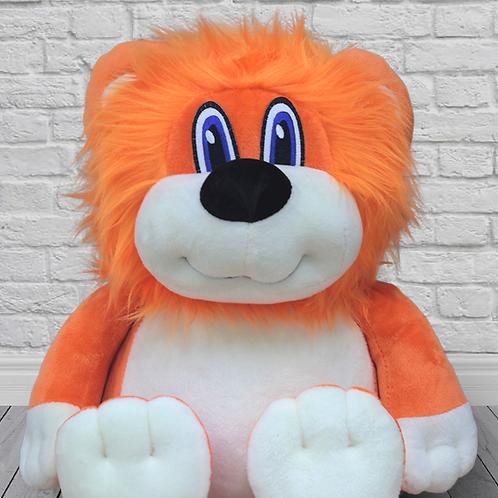 Лев оранжевый (для вышивки), 45 см