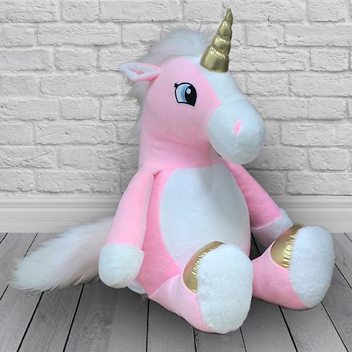 Единорог розовый (для вышивки), 64 см