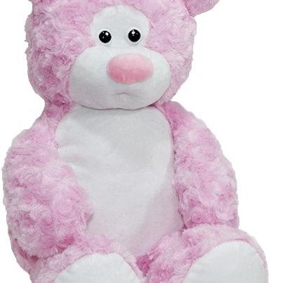 Мишка Rouz розовый (для вышивки), 50 см