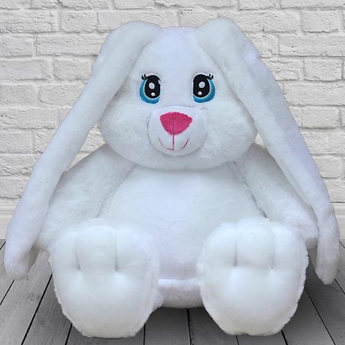 Заяц Лапа белый (для вышивки), 42 см