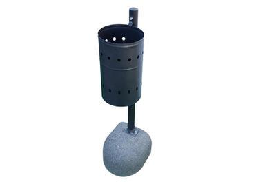 Cestino con base in cemento per supporto