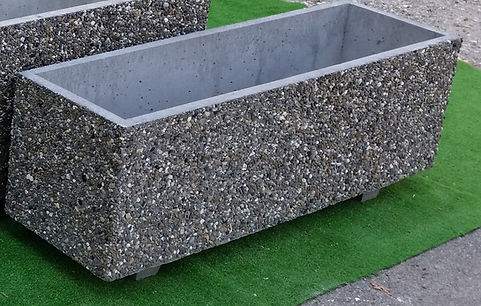 fioriera in cemento 100 x 30 x h 36