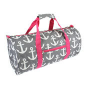 Pink/Gry Anchor Duffle Bag