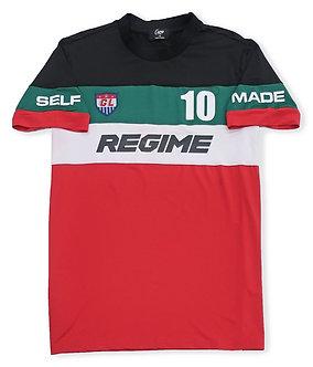 Navy Multi Color Regime T Shirt