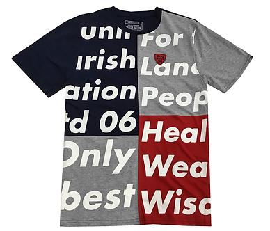 Parish Nation Grey Color Block T Shirt