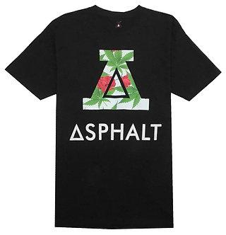 Asphalt Dirty Rose Black T Shirt