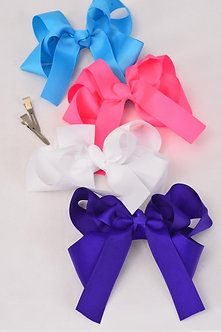 Double Layered Longtail Hair Bow