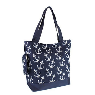 Luggage Tote Anchor Navy Blue