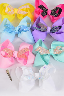 Citrus Glitter Ribbon Center Bow