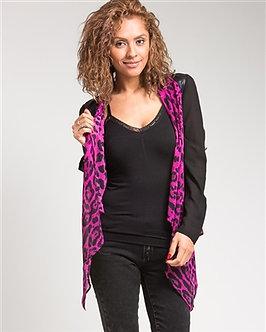 Purple Cheetah Print Cardigan