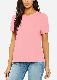 Mauve Relaxed Jersey Crew Neck Tee