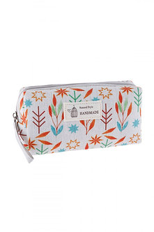 Leaf Print Cosmetic Pouch