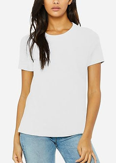 White Relaxed Jersey Crew Neck Tee