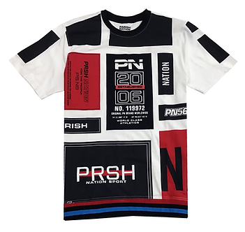 Parish Nation Red Black White Color Block T Shirt
