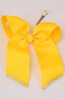 Yellow Long Tail Rhinestone Trim