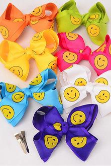 Smiley Face Hair Bow