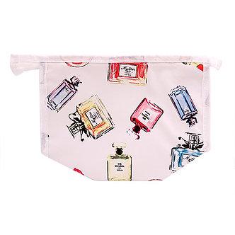 White Lips & Perfume Makeup Bag