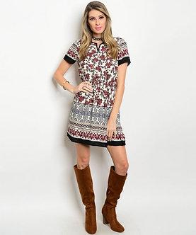 Native Floral Dress