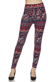 Red/Blue Bandana Print Leggings