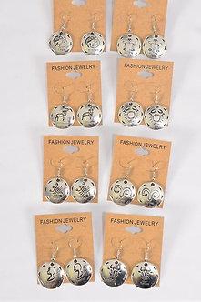 Silver Zodiac Sign Earrings