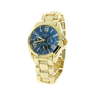 Blue and Gold Roman Numeral Watch