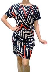 Black and Tan Wrap Dress