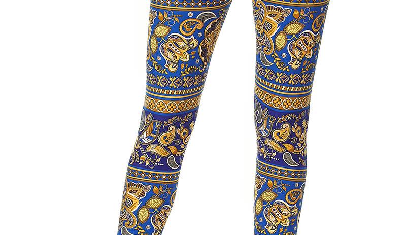 blue Leggings - couture - woman's cloths