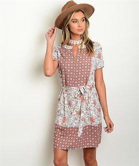 Stylish Waist Tie Dress