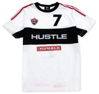 Camp Hustle Humble White Black Red T Shirt