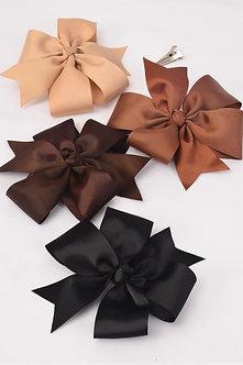 Brown Tone Mix Jumbo Hair Bow