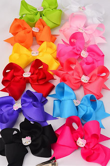 Solid Double Layered Hello Kitty Bow