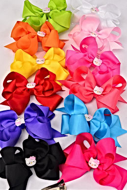 Solid Double Layered Hello Kitty Bow.Jpg