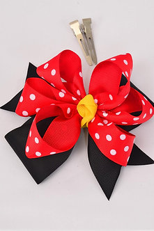 Lady Bug Double Layered Bow