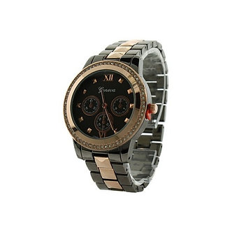 Rose Gold Silver and Black Watch