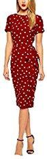 Red Polka Dot Midi Dress