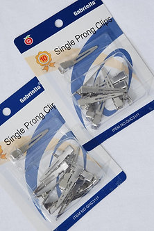 Single Prong Hair Clips