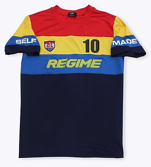 Red Multi Color Regime T Shirt