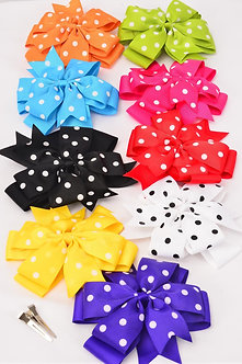 Double Layered Jumbo Polka Dot Bow