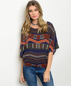 Native Butterfly Sleeve Blouse