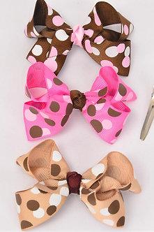 Mixed Color Polka Dot Bow