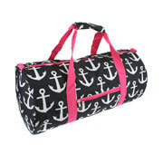 Pink/Blk/Wht Anchor Duffle Bag