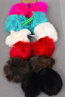Elastic Rabbit Fur Ball Ponytail Holder
