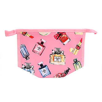 Pink Lips & Perfume Makeup Bag