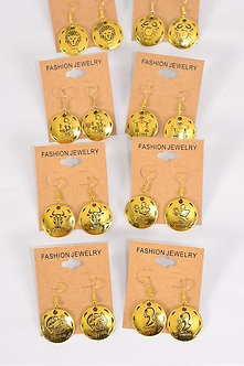 Gold Zodiac Sign Earrings